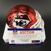HOF - Chiefs Bobby Bell Signed Chrome Mini Helmet