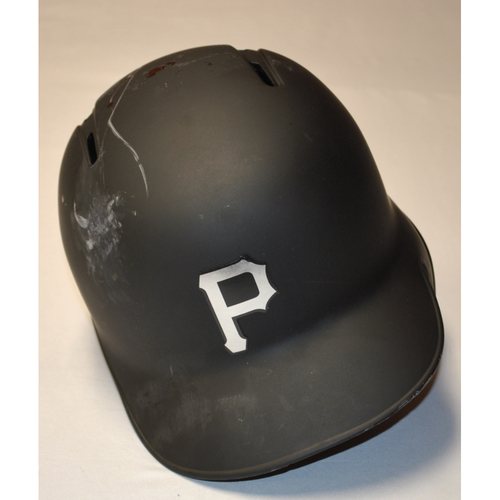 "Photo of Joe ""MOOSE"" Musgrove Pittsburgh Pirates Game-Used 2019 Players' Weekend Helmet"