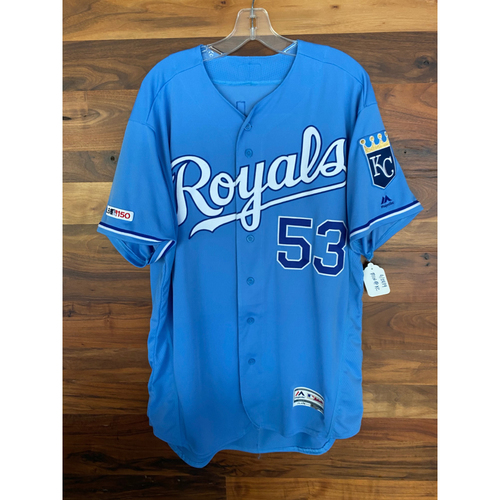 Photo of Game-Used Jersey: Eric Skoglund (Size 48 - MIN @ KC - 9/28/19)