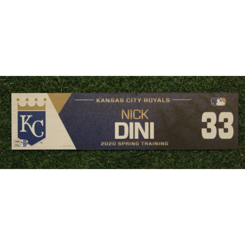 Photo of Game-Used Spring Training Locker Tag: Nick Dini #33