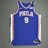 Kyle O'Quinn - Philadelphia 76ers - Game-Worn Icon Edition Jersey - Dressed, Did Not Play (DNP) - 2019-20 NBA Season Restart with Social Justice Message