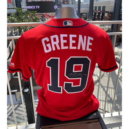 Photo of Shane Greene MLB Authenticated Autographed Game Used Los Bravos Jersey (Size 44) - Used 9/6/2019 vs. WAS