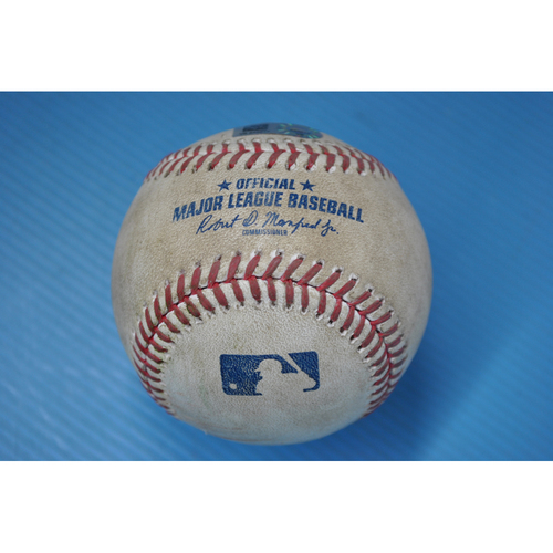 Photo of Game-Used Baseball - DET at PIT - 8/7/2020 - Pitcher - Steven Brault, Batter - Jeimer Candelario, Top 5, Single