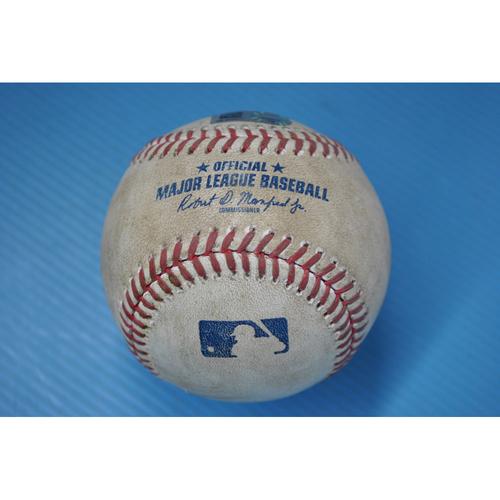 Photo of Game-Used Baseball - DET at PIT - 8/7/2020 - Pitcher - Steven Brault, Batter - Jeimer Candelario, Top 5, Single