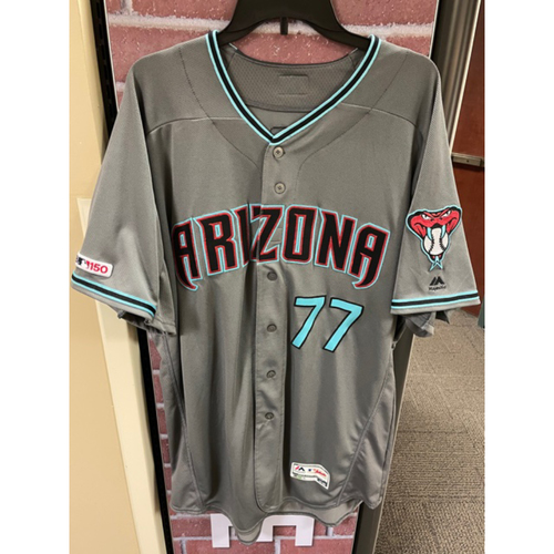 Photo of Eric Hinske 2019 Team-Issued Road Alternate Jersey (Size 52T + 1B)