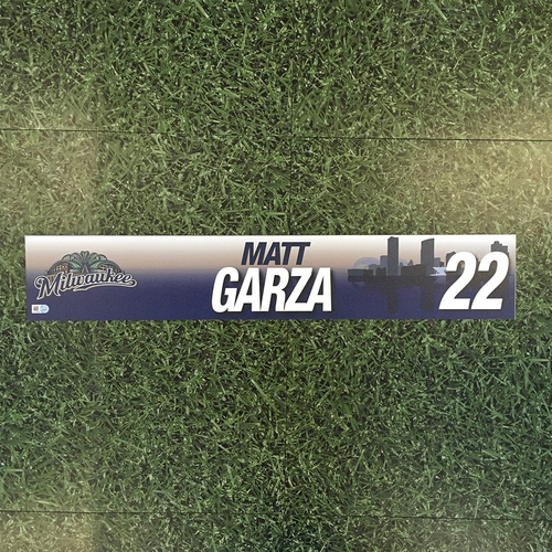 Photo of Matt Garza 2017 Game-Used Locker Nameplate