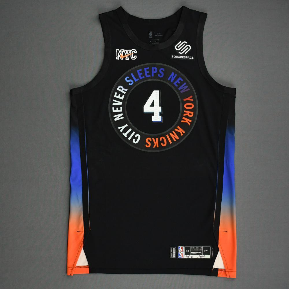 Dennis Smith Jr. - New York Knicks - Game-Worn City Edition Jersey ...