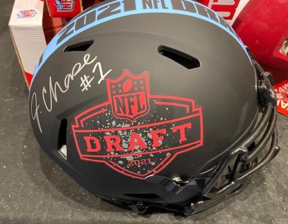 Ja'Marr Chase autographed NFL Draft 2021 Helmet