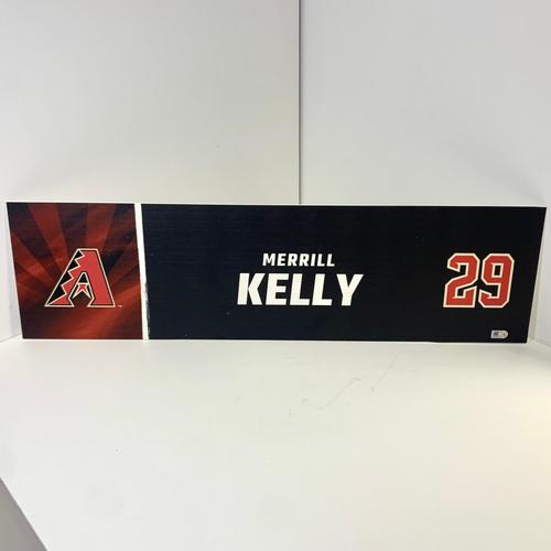 Photo of Merrill Kelly #29 Team Issued 2020 Locker Name Plate