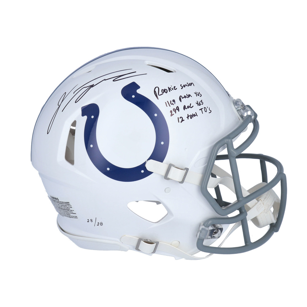 Jonathan Taylor Signed Indianapolis Colts Helmet - Limited Edition #28/28