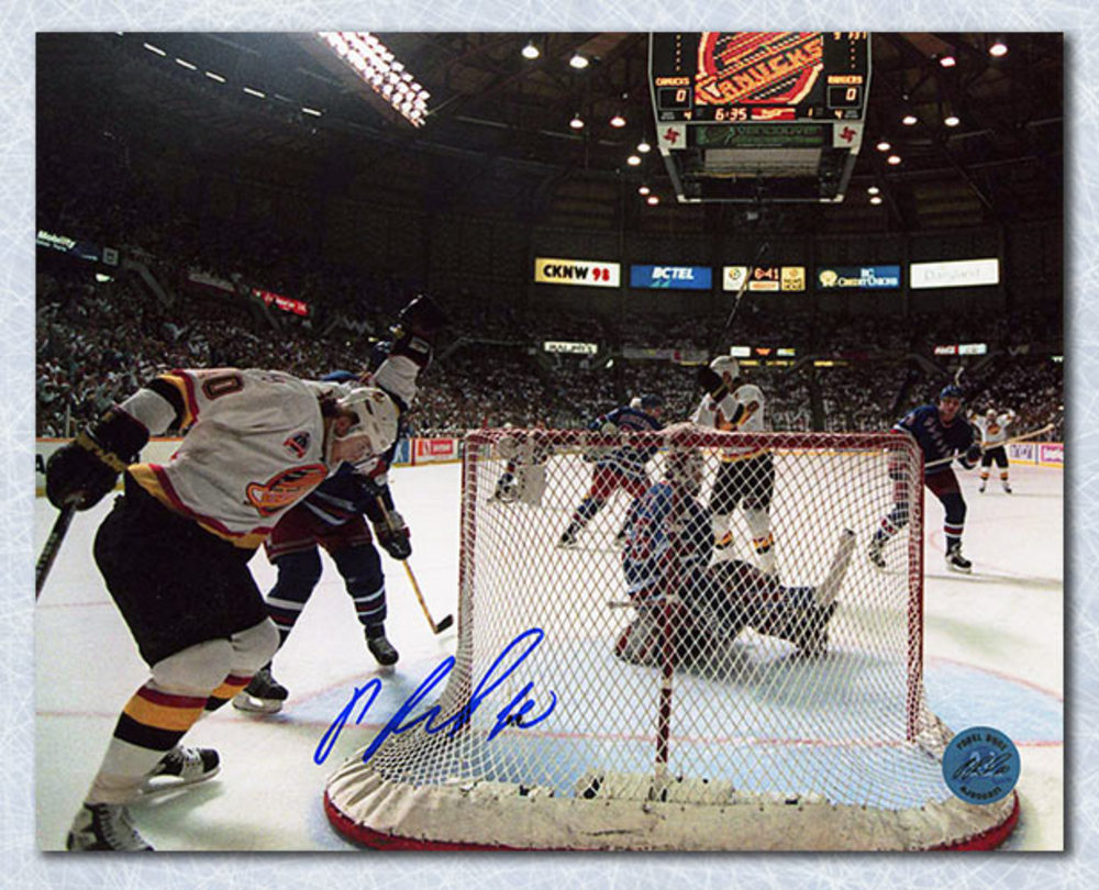 Pavel Bure Vancouver Canucks Autographed 1994 Cup Final Goal 8x10 Photo