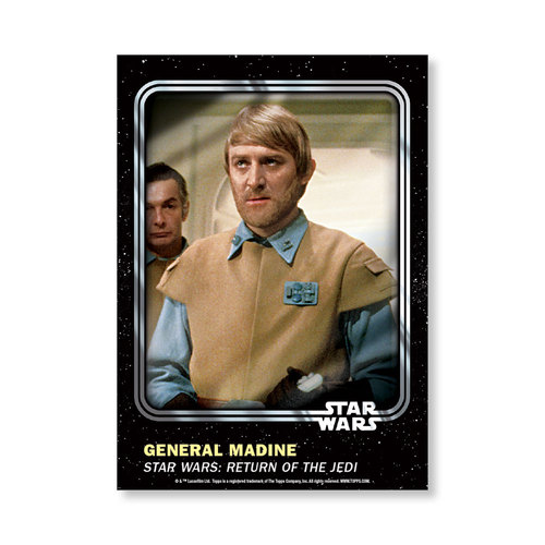 General Madine 2016 Star Wars Card Trader Base Poster - # to 99