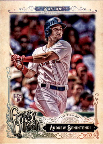 Photo of 2017 Topps Gypsy Queen #282 Andrew Benintendi Rookie Card