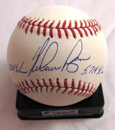 "Photo of Nolan Ryan Autographed ""324 Wins / 5,714 K's"" Baseball"