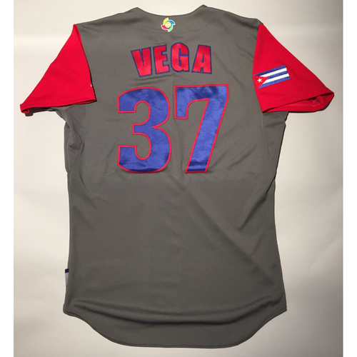 2017 WBC: Cuba Game-Used Road Jersey, Vega #37