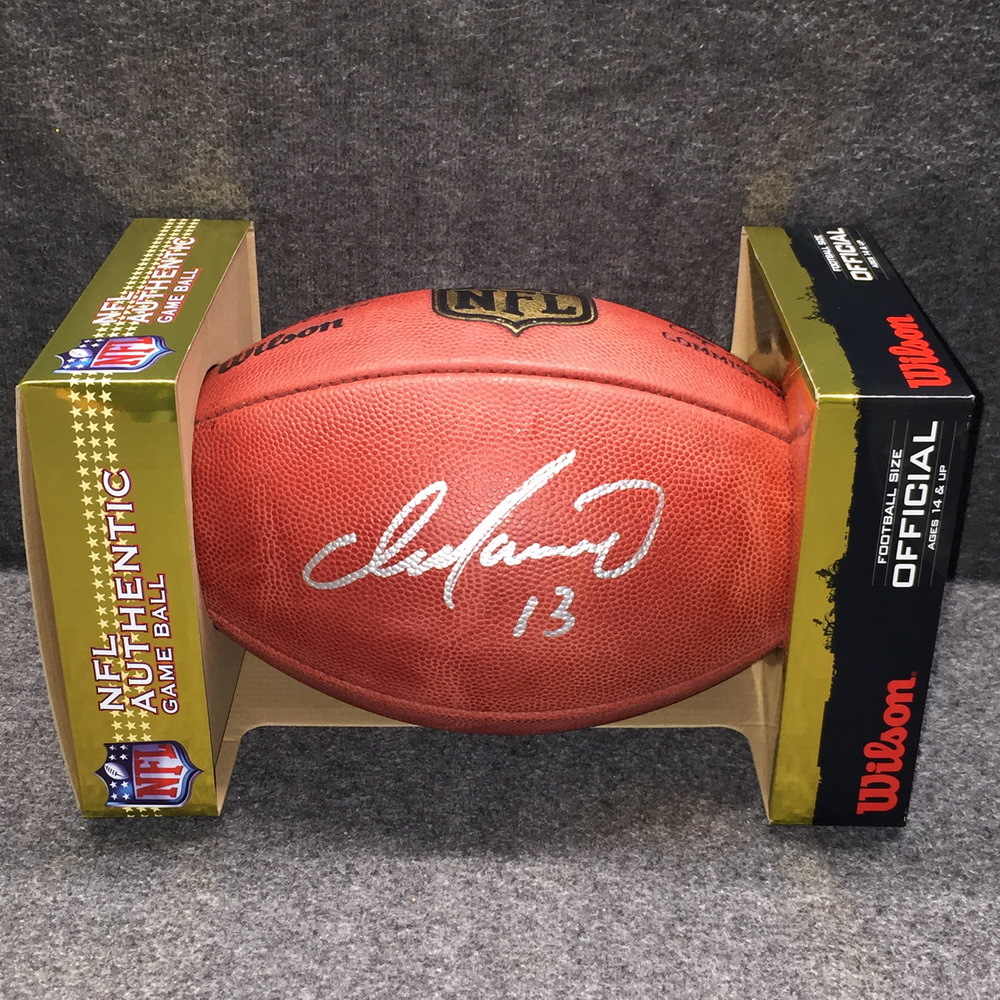 HOF - DOLPHINS DAN MARINO SIGNED AUTHENTIC FOOTBALL