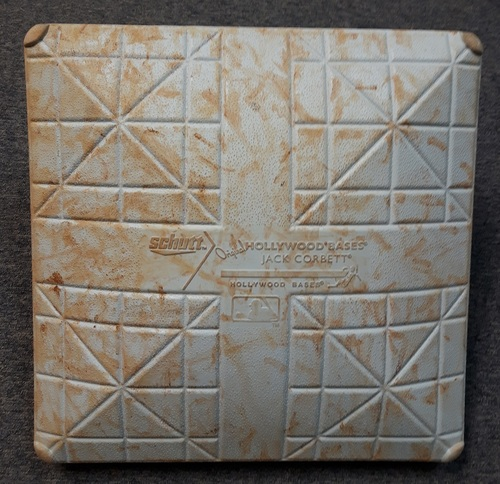Photo of Authenticated Game Used Base - September 25, 2014. 1st MLB Start for Daniel Norris (1st Base for Innings 1 to 5)