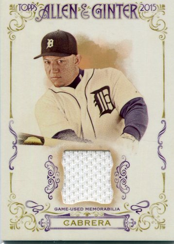 Photo of 2015 Topps Allen and Ginter Relics Miguel Cabrera