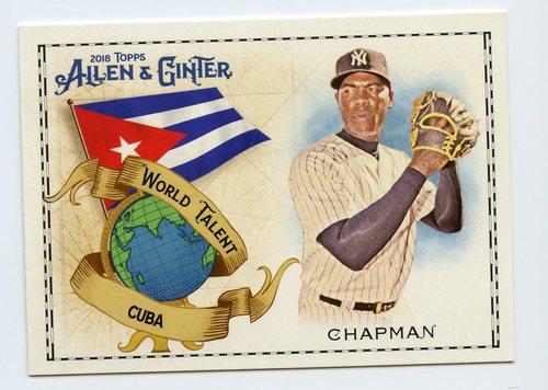Photo of 2018 Topps Allen and Ginter World Talent #WT8 Aroldis Chapman