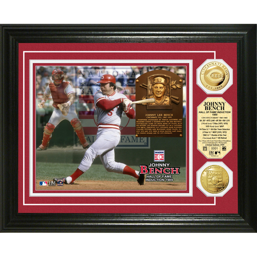 Photo of Johnny Bench Baseball HOF Gold Coin Photo Mint