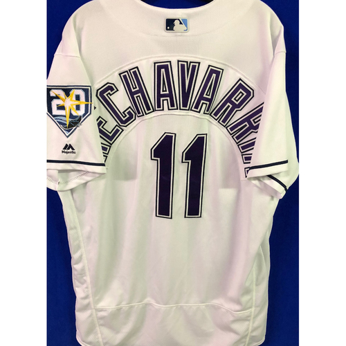 Photo of 20th Anniversary Game Used Devil Rays Jersey: Adeiny Hechavarria - March 31, 2018 v BOS and June 23, 2018 v NYY