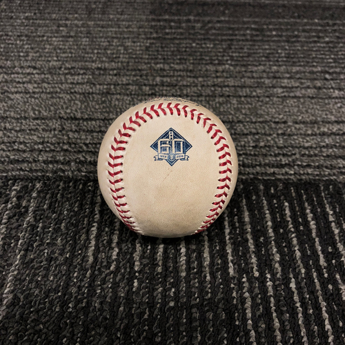 Photo of 2018 San Francisco Giants Game Used Baseball - 6/4/18 vs. Arizona Diamondbacks - T-4: Derek Holland to Paul Goldschmidt - Single to LF - 2018 National League Silver Slugger