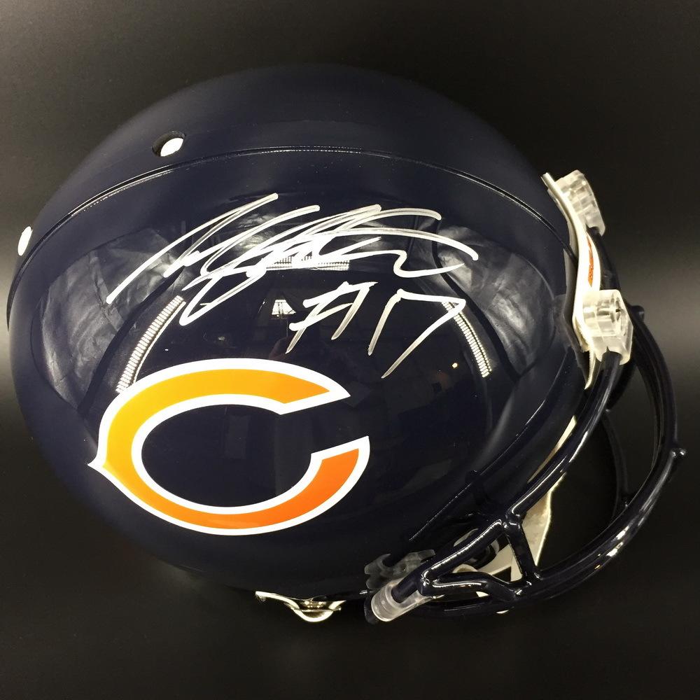 NFL - BEARS WR ANTHONY MILLER SIGNED BEARS PROLINE HELMET