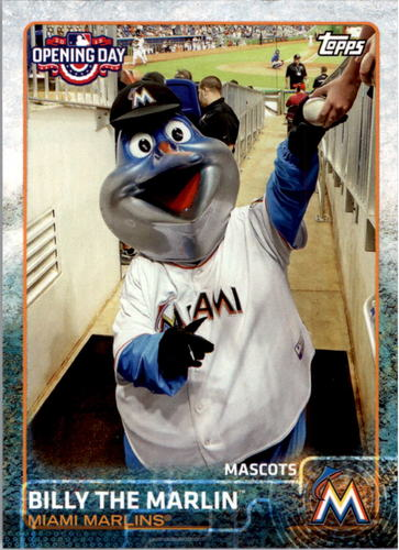 Photo of 2015 Topps Opening Day Mascots #M12 Billy the Marlin