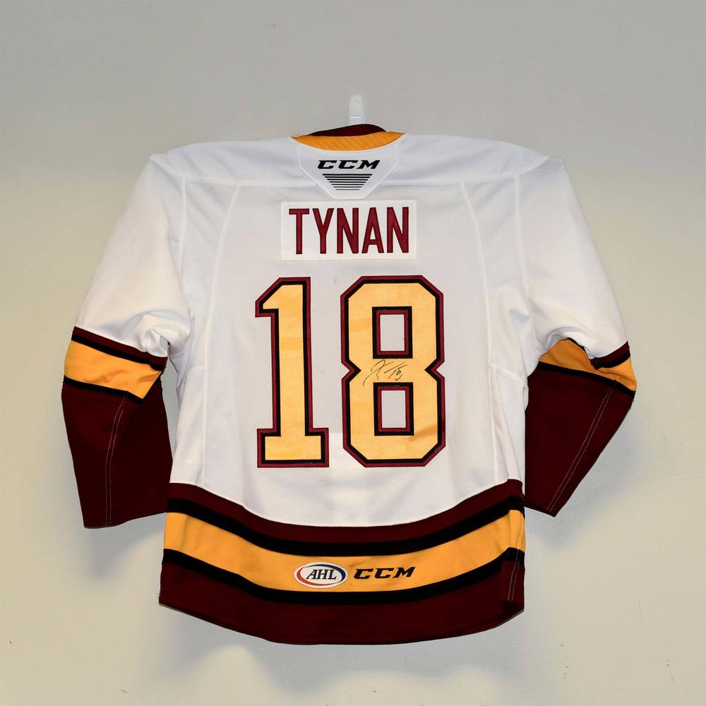 Chicago Wolves 2019 Calder Cup Finals Game 1 Jersey Worn and Signed by #18 T.J. Tynan
