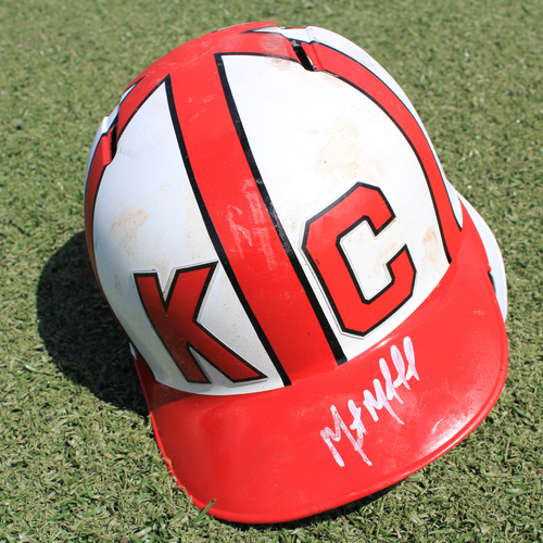 Salute to the Negro Leagues Autographed & Game-Used Helmet: Martin Maldonado (Size 7 1/4 - MIN at KC - 6/23/19)
