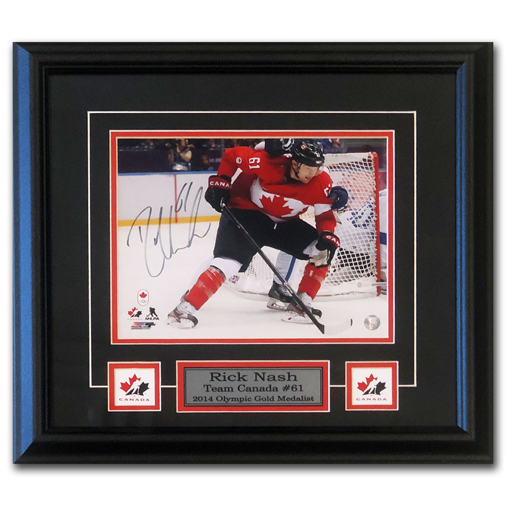 Rick Nash Autographed Team Canada Framed 8X10 Photo