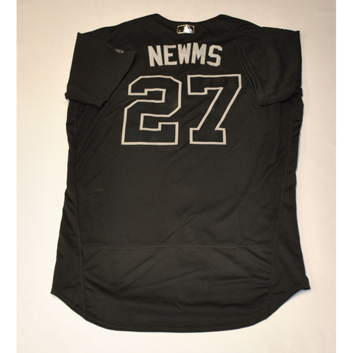 "Photo of Kevin ""NEWMS"" Newman Pittsburgh Pirates Game-Used 2019 Players' Weekend Jersey"