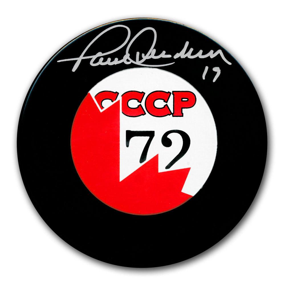 Paul Henderson Team Canada 1972 Summit Series Autographed Puck