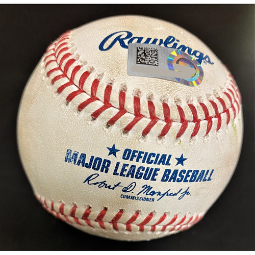 Photo of Brett Phillips Kansas City Royals Single Baseball (MLB AUTHENTICATED)