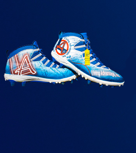 My Cause My Cleats - Joe Noteboom Custom Cleats - Benefitting Living Advantage, Inc.