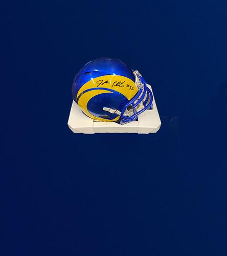 Photo of Jordan Fuller Signed Mini-Helmet