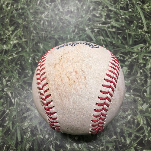 Photo of Game-Used Baseball PHI@MIL 09/06/21 - Brandon Woodruff - Zack Wheeler: Single
