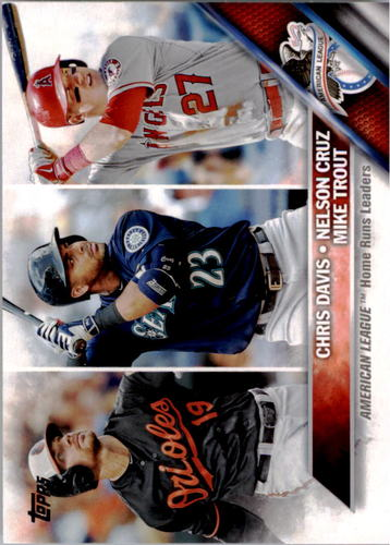 Photo of 2016 Topps #26 Chris Davis/Mike Trout/Nelson Cruz LL