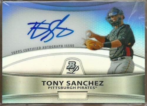 Photo of 2010 Bowman Platinum Prospect Autographs Refractors #TS Tony Sanchez