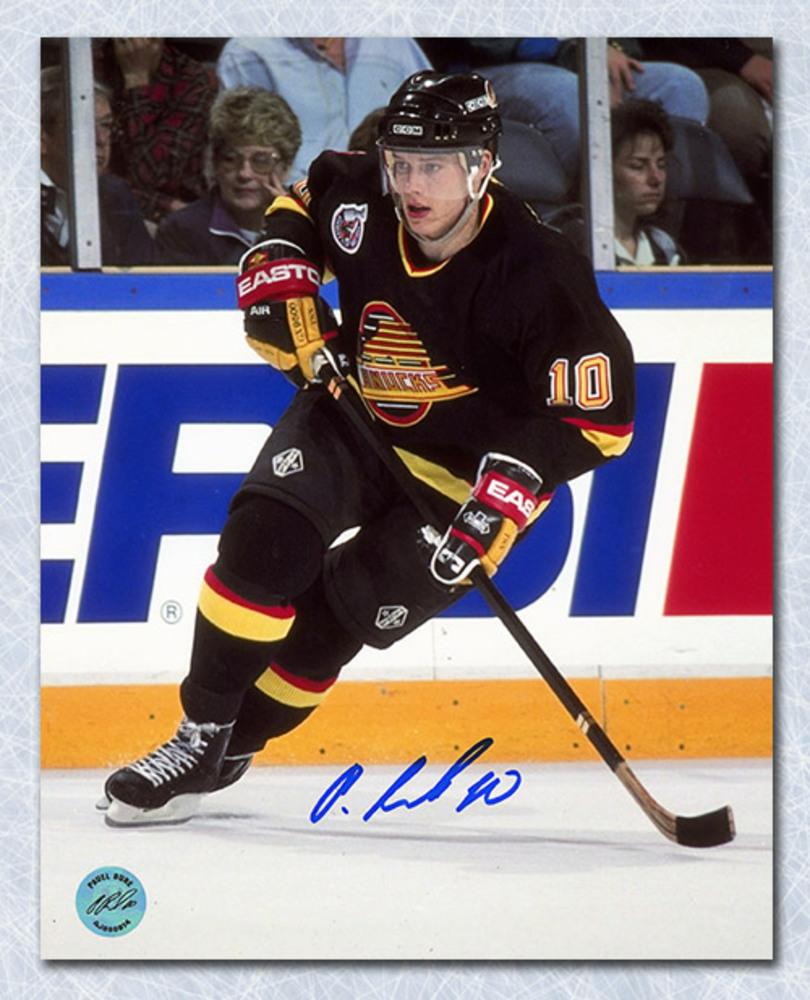 Pavel Bure Vancouver Canucks Autographed Skating 8x10 Photo