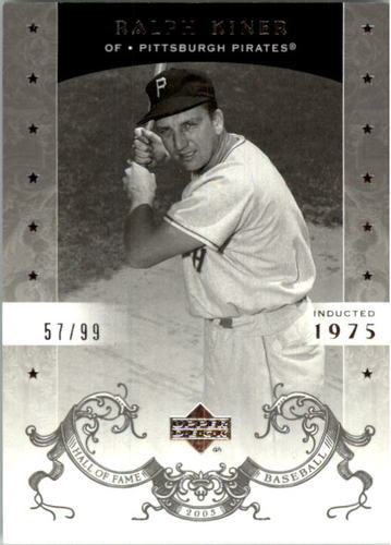Photo of 2005 Upper Deck Hall of Fame Silver #60 Ralph Kiner