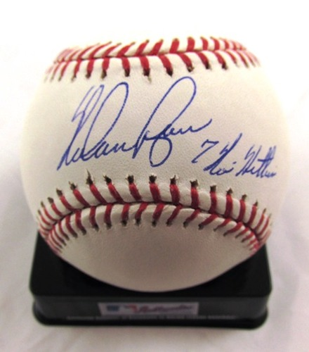 "Photo of Nolan Ryan Autographed ""7 No Hitters"" Baseball"