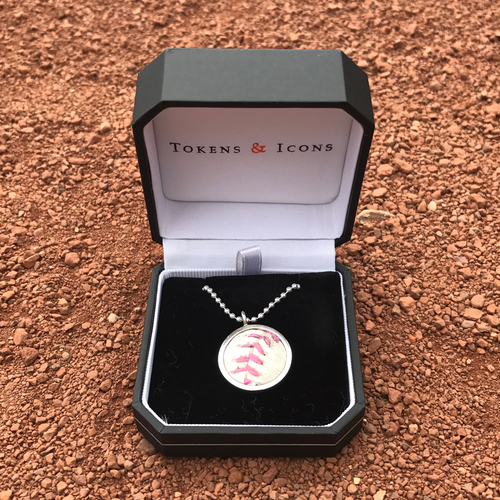 Photo of San Francisco Giants - Tokens and Icons - Game-Used Mother's Day Pink Ball Pendant
