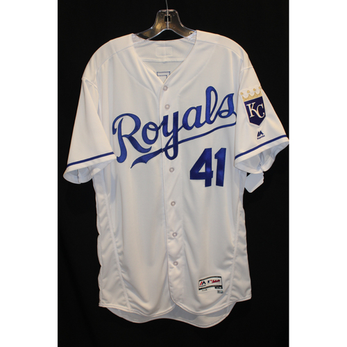 Game-Used Jersey: Danny Duffy (Size 46 - STL at KC - 8/8/17)