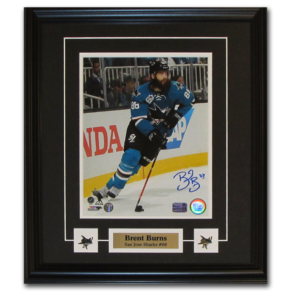 Brent Burns Autographed San Jose Sharks Framed 8X10 Photo