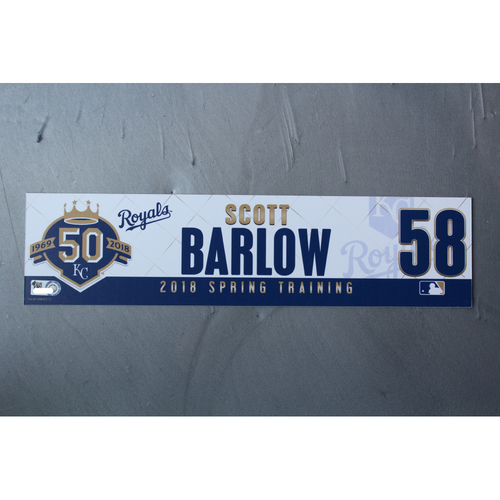 Photo of Spring Training Locker Nameplate: Scott Barlow