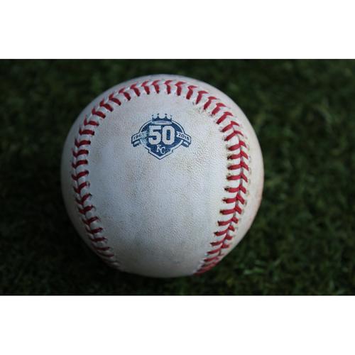 Photo of Game-Used Baseball: Jurickson Profar 205th Career Hit and Rougned Odor 533rd Career Hit (TEX @ KC - 6/20/18)