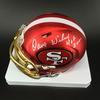 HOF - 49ers Dave Wilcox Signed Blaze Speed Mini Helmet