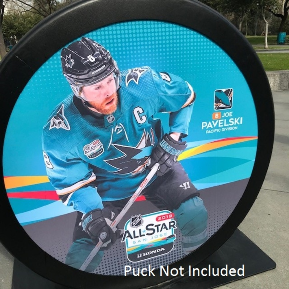 2019 NHL All Star Game Banner Featuring Joe Pavelski (San Jose Sharks)