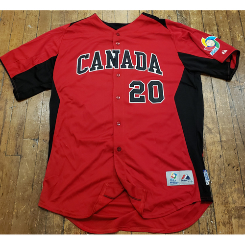 Photo of 2013 World Baseball Classic Game Used Jersey - Michael Saunders - Size 48 (Canada)